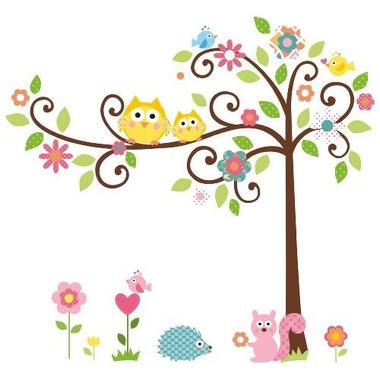 RoomMates, naklejki wielokrotnego użytku - Kwitnące drzewo