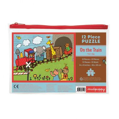 MUDPUPPY Moje pierwsze puzzle – 12 elementów  - Pociąg