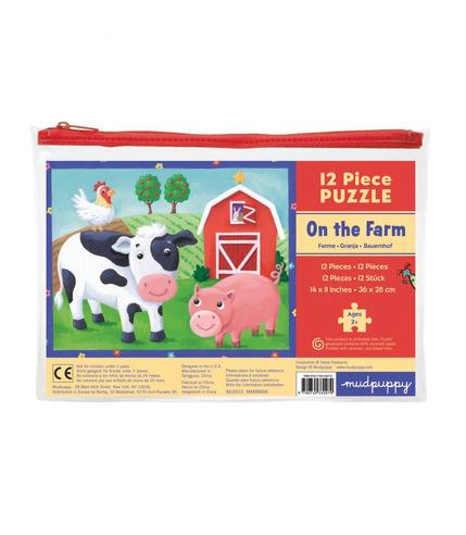 MUDPUPPY Moje pierwsze puzzle – 12 elementów  - Farma