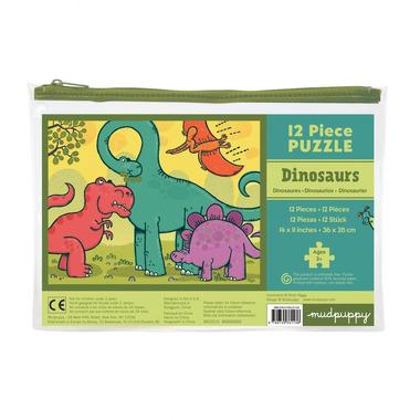 MUDPUPPY Moje pierwsze puzzle – 12 elementów  - Dinozaury