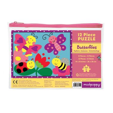 MUDPUPPY Moje pierwsze puzzle – 12 elementów - Motyle