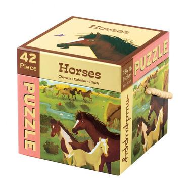 MUDPUPPY Puzzle – 42 elementy - Konie