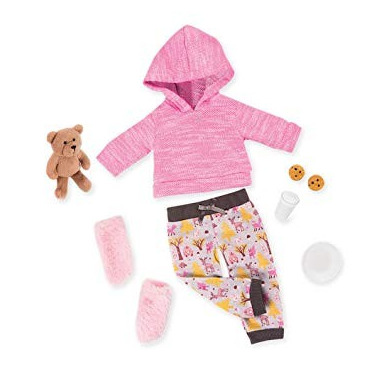 Our Generation, Zestaw ubranek deluxe - dresowa pidżamka, miś