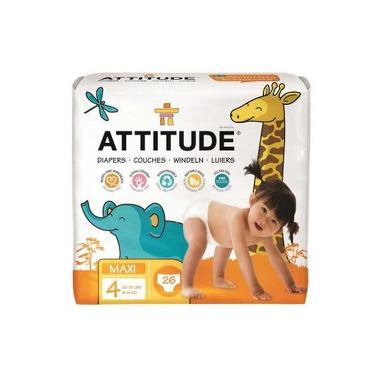 Attitude, Little Ones, Ekologiczne pieluszki dla Niemowląt Rozm 4 (9-14 kg), 26 szt.