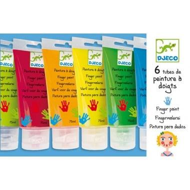 Djeco, farby do malowania palcami