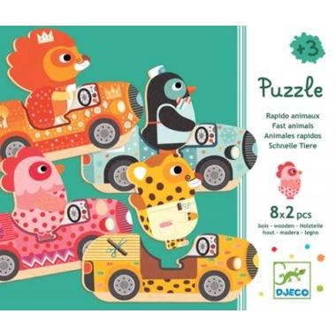 Djeco, puzzle zierzątka w aucie
