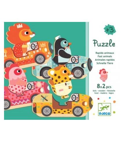 Puzzle zierzątka w aucie Djeco