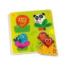Drewniane Puzzle Zwierzątka w Dżunglii Djeco