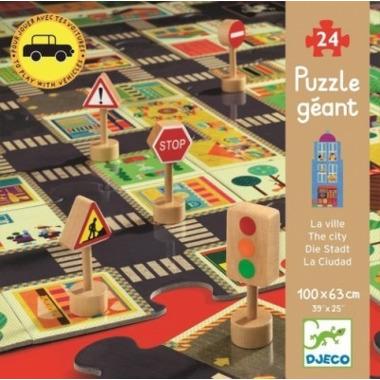 Djeco, puzzle ulice ze znakami drogowymi 3 D