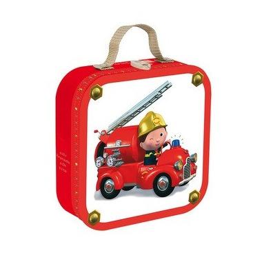 Janod, puzzle Wóz strażacki 6 9 12 i 16 elementów