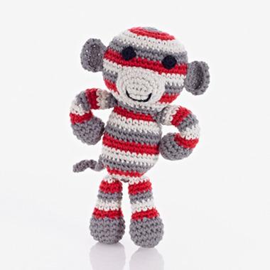 Grzechotka Czerwona Małpka Pebble