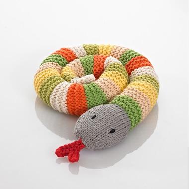 Grzechotka Zielony Wąż Pebble