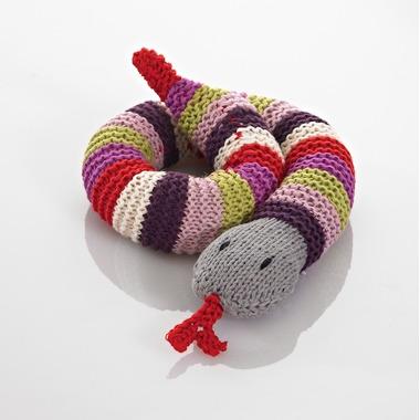 Grzechotka Purpurowy Wąż Pebble