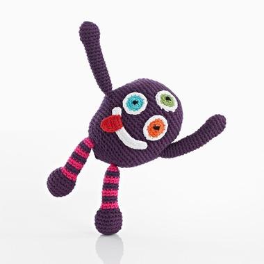 Grzechotka Purpurowy Potworek Pebble