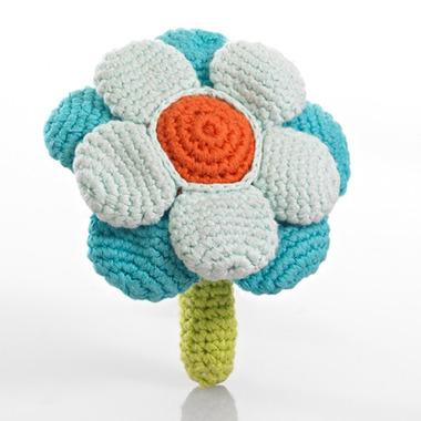 Grzechotka Turkusowy Kwiatek Pebble