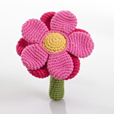 Grzechotka Różowy Kwiatek Pebble