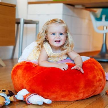 Pojemnik na przytulanki - pufa pomarańczowa  Boon