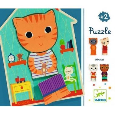 Djeco, puzzle 3-elementy KOT