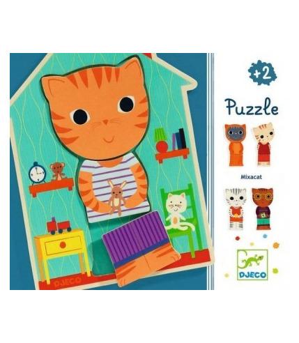 Puzzle 3-elementy KOT Djeco