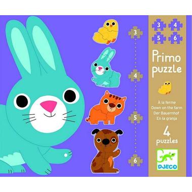 Djeco, puzzle postacie zajączek i przyjaciele
