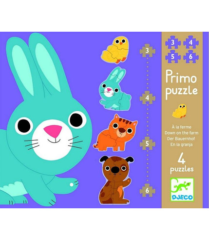 Puzzle postacie zajączek i przyjaciele  Djeco