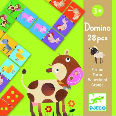 Djeco, gra domino zwierzęta z farmy