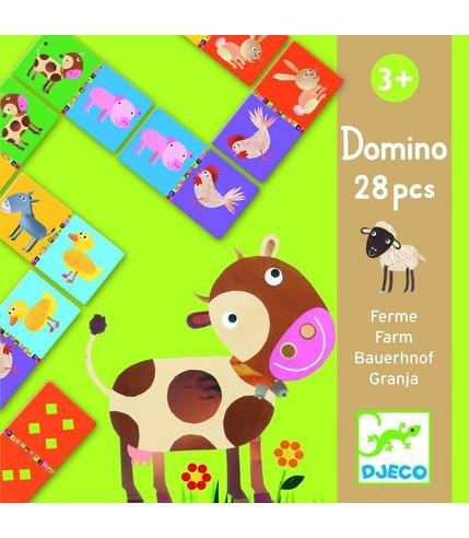 Gra domino zwierzęta z farmy  Djeco