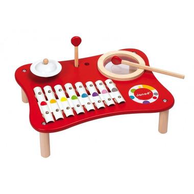 Janod, stół muzyczny czerwony Confetti