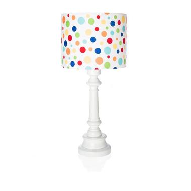Lampka kolorowe kropki, walec z okrągłą podstawką Lamps&Co