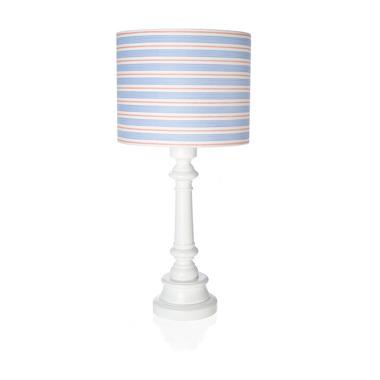 Lampka niebieskie paski z okrągłą podstawką Lamps&Co