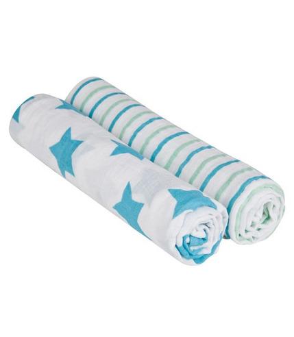 Lassig, muślinowe Pieluszki / Chusty XL Stars & Stripes Ze