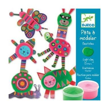 Djeco, zestaw artystyczny z masą plastyczną zwierzątka