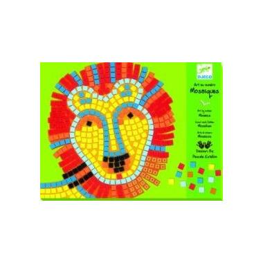 Djeco, zestaw mozaiek LEW i DELFIN