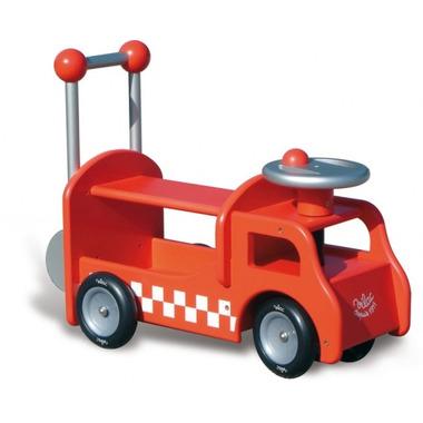 Wózek Do Nauki Chodzenia Drewniany -Strażak