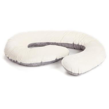 Poofi, poduszka dla kobiet w ciąży kremowo-szara 9 miesięcy