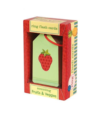 MUDPUPPY Karty do nauki -  Liczymy owoce i warzywa