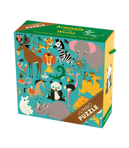 MUDPUPPY Puzzle JUMBO - 25 elementów - Zwierzęta świata