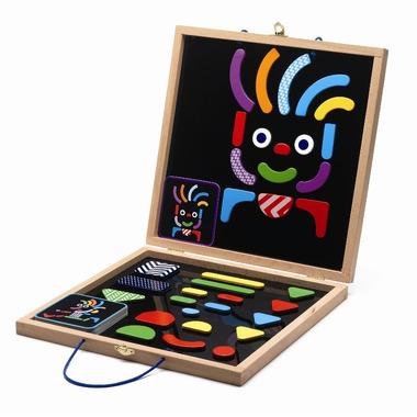 Djeco Drewniane magnesy w walizce