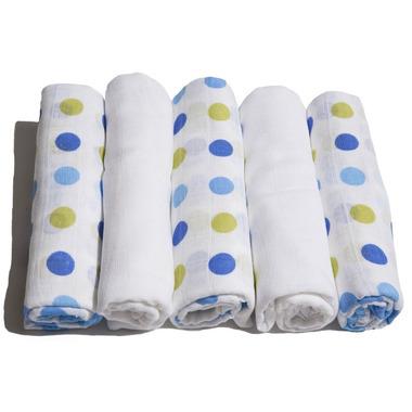 Motherhood, pieluszki tetrowe niebiesko-zielone kropeczki