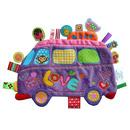 Przytulanka kocyk z metkami Label Label - Autobus fioletowy