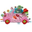 Przytulanka kocyk z metkami Label Label - Samochód różowy