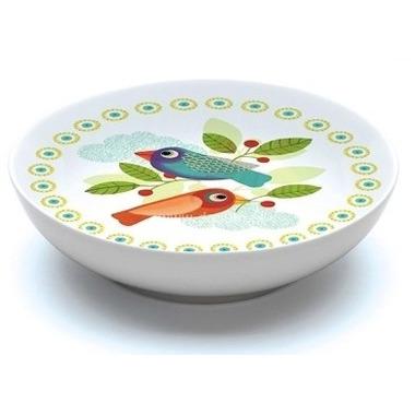 Djeco, miseczka porcelanowa płytka Ptaszki