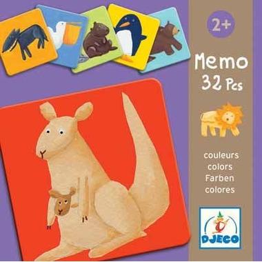 Djeco, gra pamięciowa kolorowe zwierzątka