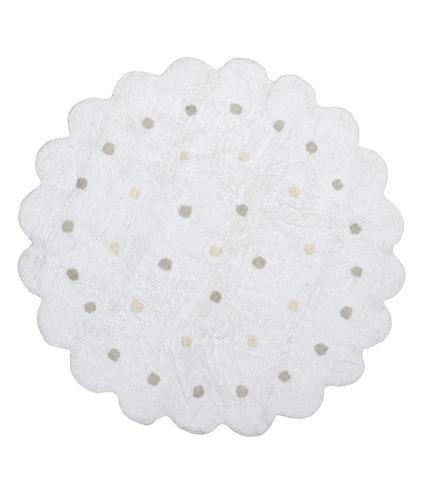 Dywan Lorena Canals ciastko okrągłe białe