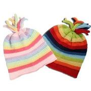 Kolorowa czapka w paski Pebble
