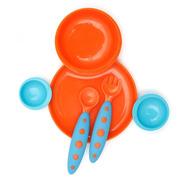 Zestaw jedzeniowy pomarańczowo niebieski Boon