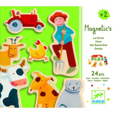 Djeco, układanka motywy z farmy z magnesami