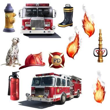 RoomMates, naklejki wielokrotnego użytku  - Straż pożarna