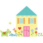 Naklejki wielokrotnego użytku  - Zbuduj dom
