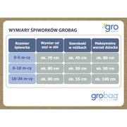 Gro Company, Śpiworek Grobag Alphapets - grubość 2,5 tog 18-36 m